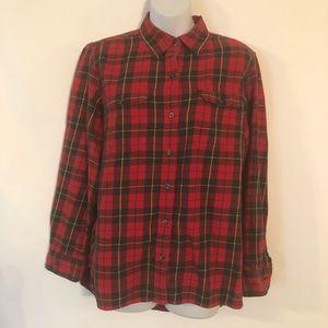 Lauren Jeans By Ralph Polo Women's Flannel Shirt L